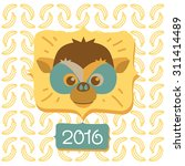 chinese new year of the monkey... | Shutterstock .eps vector #311414489