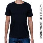 shirt black front | Shutterstock . vector #311418074