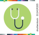 stethoscope icon  medical... | Shutterstock .eps vector #311419205