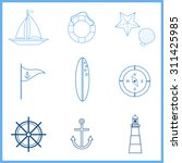 marine outline icons set. sea... | Shutterstock .eps vector #311425985