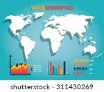 world infographic design ... | Shutterstock .eps vector #311430269