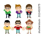 set of young man characters in...   Shutterstock .eps vector #311432375