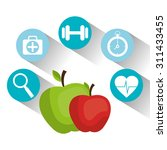 healthy lifestyle design ... | Shutterstock .eps vector #311433455