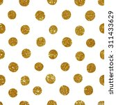 seamless pattern with gold... | Shutterstock . vector #311433629