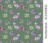seamless floral pattern on... | Shutterstock . vector #311435831
