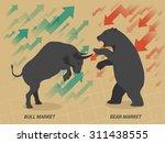 stock market concept bull vs...   Shutterstock .eps vector #311438555
