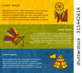 vector native american concept... | Shutterstock .eps vector #311442614