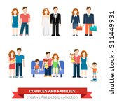 family couple flat style people ... | Shutterstock .eps vector #311449931