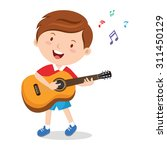 boy playing guitar. vector... | Shutterstock .eps vector #311450129