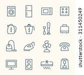household appliances line icons | Shutterstock .eps vector #311450249