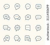speech bubble line icons
