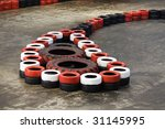 safety barriers made of old... | Shutterstock . vector #31145995