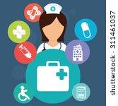 health care digital design ... | Shutterstock .eps vector #311461037