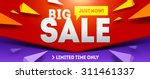 big sale banner. sale and... | Shutterstock .eps vector #311461337