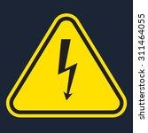 vector yellow danger sign on...   Shutterstock .eps vector #311464055