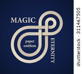 vector abstract magic eternity... | Shutterstock .eps vector #311467505