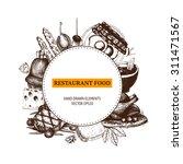 vector design  with ink hand... | Shutterstock .eps vector #311471567