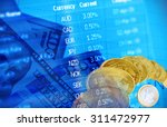 collage for  financial market... | Shutterstock . vector #311472977