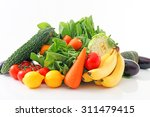 fresh fruits and vegetables | Shutterstock . vector #311479415