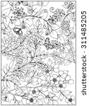 Coloring Page With Garden...