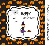 happy halloween background with ... | Shutterstock .eps vector #311489939