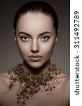 high fashion model girl beauty... | Shutterstock . vector #311492789
