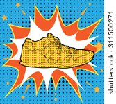 sneakers in pop art style.... | Shutterstock .eps vector #311500271