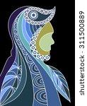 ethnic stylized patterned... | Shutterstock . vector #311500889