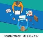 flat design creative office... | Shutterstock .eps vector #311512547