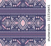 vector tribal mexican vintage... | Shutterstock .eps vector #311514641