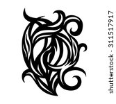tattoo design with swirls and... | Shutterstock .eps vector #311517917