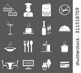 restaurant icons set... | Shutterstock .eps vector #311518709