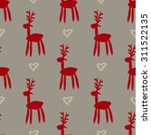 seamless pattern with deers ... | Shutterstock .eps vector #311522135