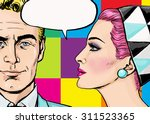 Постер, плакат: Love couple Pop Art Couple Pop