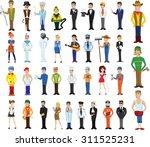 cartoon vector characters of... | Shutterstock .eps vector #311525231