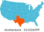 map of texas | Shutterstock .eps vector #311526599