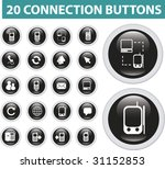 20 connection buttons.vector | Shutterstock .eps vector #31152853