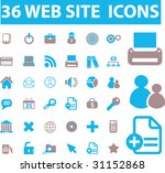 36 web site icons. vector | Shutterstock .eps vector #31152868