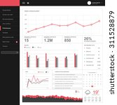 one page dashboard template... | Shutterstock .eps vector #311528879