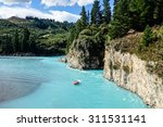 Jetboat On A Turquoise Glacial...
