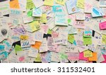 post it notes sticked... | Shutterstock . vector #311532401
