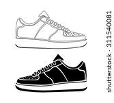 running shoe icon sneakers ... | Shutterstock . vector #311540081