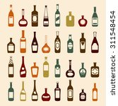 wine bottles icons | Shutterstock . vector #311548454