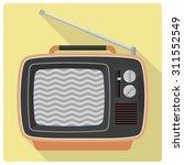 vintage television set vector...   Shutterstock .eps vector #311552549
