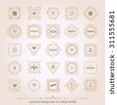 retro vintage labels insignias... | Shutterstock .eps vector #311555681