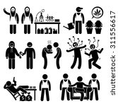 stick figure pictogram icons... | Shutterstock .eps vector #311556617