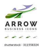 set of arrow logo business... | Shutterstock . vector #311558324