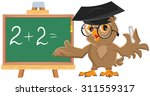 owl teacher leads math lesson....   Shutterstock . vector #311559317