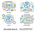 flat line illustration set of... | Shutterstock .eps vector #311570747