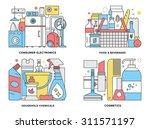 flat line illustration set of... | Shutterstock .eps vector #311571197